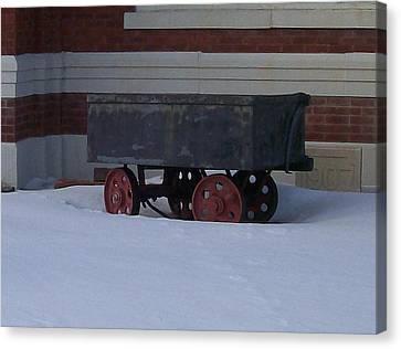 Idle Wagon Canvas Print by Jonathon Hansen
