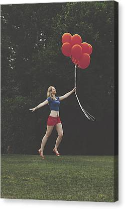 If Supergirl Needed Help Canvas Print by Andrew Ramdat