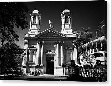 Iglesia Angeles Custodios Santiago Chile Canvas Print by Joe Fox