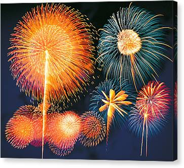 Ignited Fireworks Canvas Print by Panoramic Images