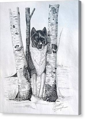 Ihasa In The Woods Canvas Print by Joette Snyder