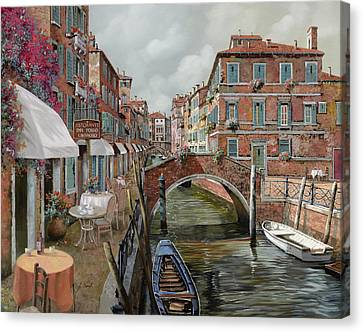 Il Fosso Ombroso Canvas Print by Guido Borelli