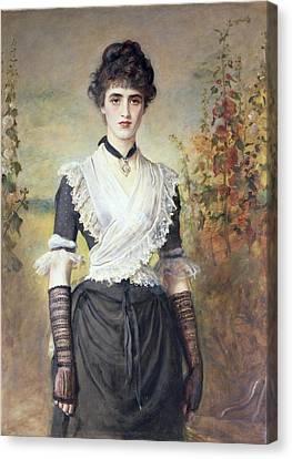 Il Penseroso  Canvas Print by Sir John Everett Millais