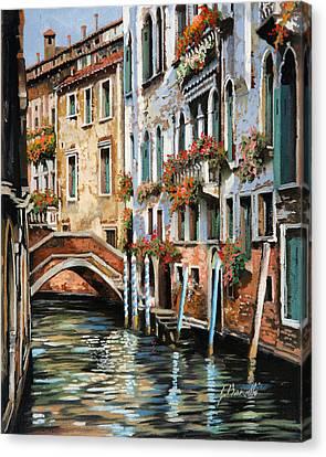 Il Ponte E I Pali Canvas Print by Guido Borelli