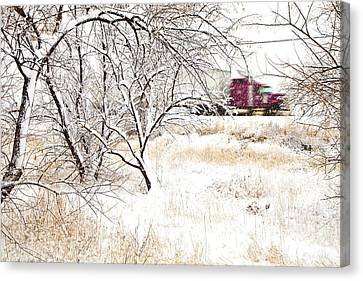 I'll Be Home For Christmas Canvas Print by Theresa Tahara