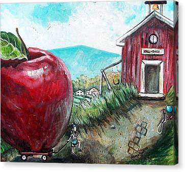 Ill Be The Teachers Pet For Sure Canvas Print by Shana Rowe Jackson