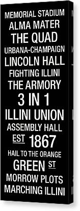Illinois College Town Wall Art Canvas Print by Replay Photos