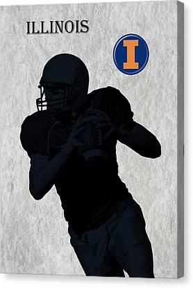 Illinois Football Canvas Print by David Dehner