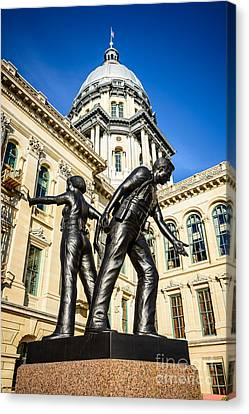 Illinois Police Officers Memorial In Springfield Canvas Print by Paul Velgos