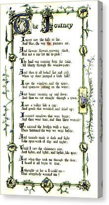 Illuminated Poem 1903 Canvas Print by Padre Art