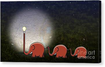 Illumination Canvas Print by Sassan Filsoof