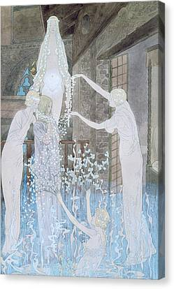 Illustation From Le Reve Canvas Print by Carlos Schwabe