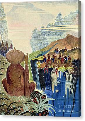 Illustration For Kim By Rudyard Kipling Canvas Print by Francois-Louis Schmied