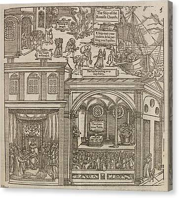 Illustration From 'foxe's Book Of Martyrs Canvas Print by British Library