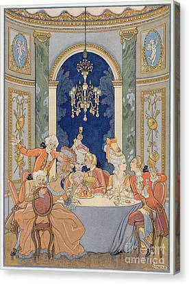Illustration From 'les Liaisons Dangereuses'  Canvas Print by Georges Barbier