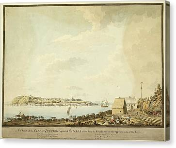 Illustration Of 18th Century Quebec Canvas Print by British Library