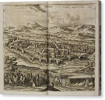 Illustration Of Baghdad In The 17th Centu Canvas Print by British Library