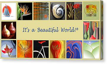 Image Mosaic - Promotional Collage Canvas Print by Ben and Raisa Gertsberg