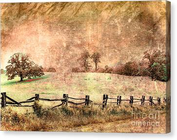 Imaginary Morning On The Blue Ridge II Canvas Print by Dan Carmichael