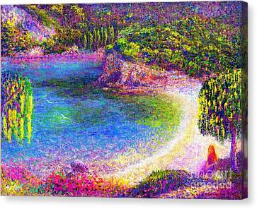 Imagine, Meditating In Beautiful Bay,seascape Canvas Print by Jane Small