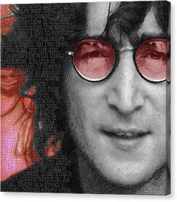 Imagine John Lennon Again Canvas Print by Tony Rubino