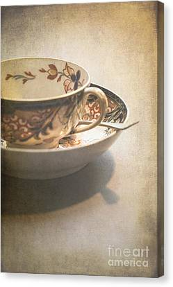 Imari Cup And Saucer Canvas Print by Jan Bickerton