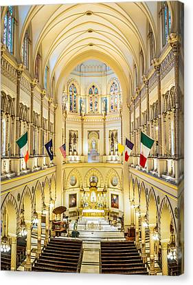Immaculate Conception Jesuit Church - New Orleans Canvas Print by Andy Crawford