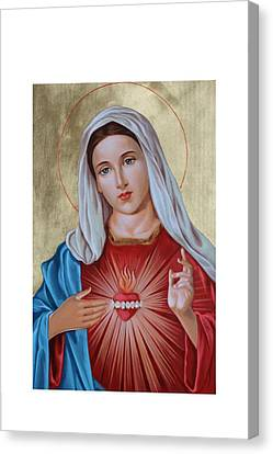 Immaculate Heart Of Mary Canvas Print by Janeta Todorova