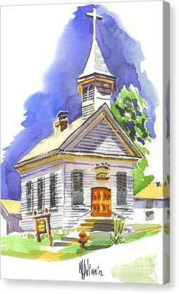Immanuel Evangelical Lutheran Church Pilot Knob Missouri Canvas Print by Kip DeVore
