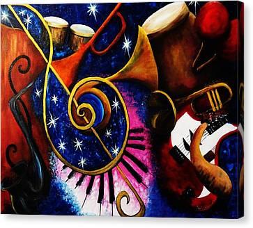 Imperfect Fusion Canvas Print by Migdalia Bahamundi