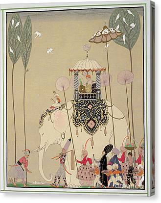 Imperial Procession Canvas Print by Georges Barbier