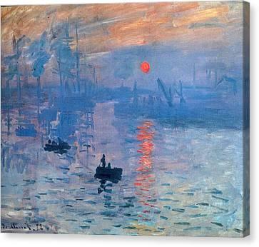 Impression Sunrise Soleil Levant Canvas Print by L Brown
