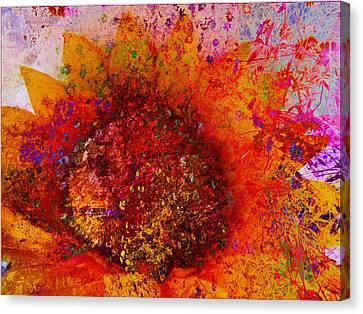 Impressionistic Colorful Flower  Canvas Print by Ann Powell