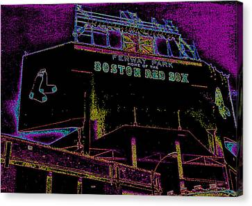 Impressionistic Fenway Park Canvas Print by Gary Cain