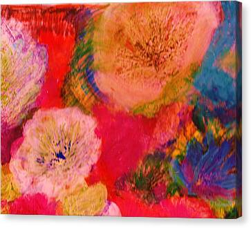 Impressionistic Flowers From The Imagination Canvas Print by Anne-Elizabeth Whiteway