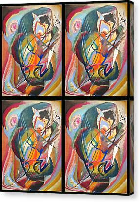 Improvisation IIi Collage Canvas Print by Wassily Kandinsky