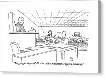 In A Courtroom Canvas Print by Paul Noth