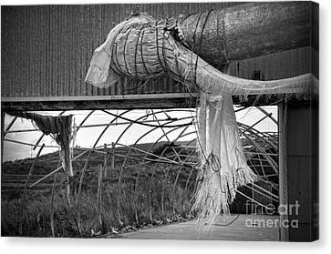 In An Abandoned Mushroom Farm Bw Canvas Print by RicardMN Photography