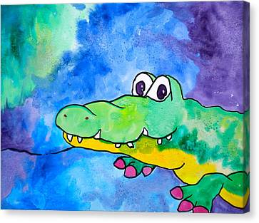 In Awhile Crocodile Canvas Print by Debi Starr