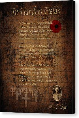 In Flanders Fields 2 Canvas Print by Andrew Fare