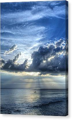 In Heaven's Light - Beach Ocean Art By Sharon Cummings Canvas Print by Sharon Cummings