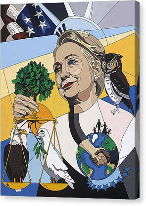 In Honor Of Hillary Clinton Canvas Print by Konni Jensen
