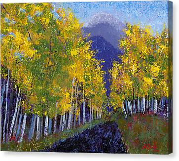 In Love With Fall River Road Canvas Print by Margaret Bobb