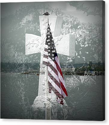 In Memory Of Those Who Died On 9-1-1 Canvas Print by Lori Seaman