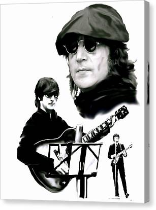 In My Life  John Lennon Canvas Print by Iconic Images Art Gallery David Pucciarelli