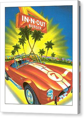In N Out Burger Corvette Poster Canvas Print by Desiderata Gallery