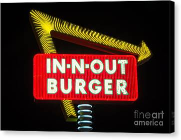 In-n-out Burger Canvas Print by Eddie Yerkish