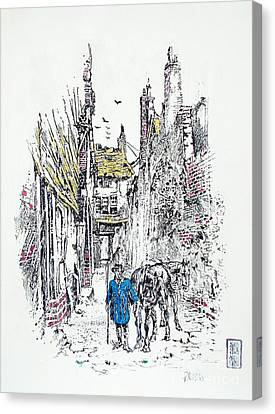 In Old Genoa Canvas Print by Roberto Prusso