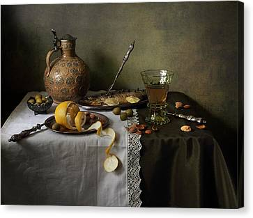 In Olive Tones  Canvas Print by Helen Tatulyan