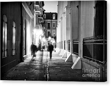 In Pirates Alley Canvas Print by John Rizzuto